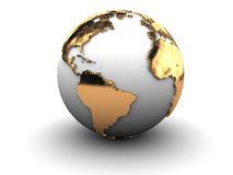 3d earth globe Stock Images