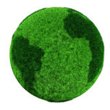 3d earth globe made of grass Royalty Free Stock Images