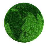 3d earth globe made of grass Stock Photography