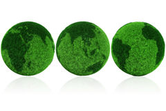 3d earth globe made of grass Royalty Free Stock Photos