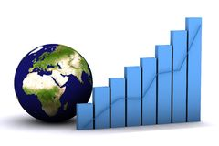 3d earth grap Stock Photography