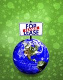 3d earth for lease Royalty Free Stock Images