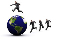 3d earth and man Stock Image