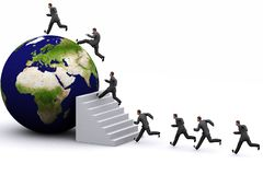 3d earth and man stock photography