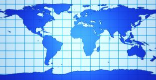 3d Earth Map Royalty Free Stock Photo