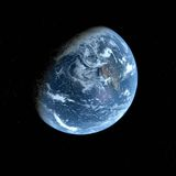 3d Earth Model with black background Royalty Free Stock Image