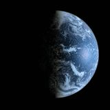 3d Earth Model with black background. 3d Earth Model in deep space Royalty Free Stock Image