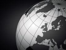 3d Earth On Grey Background Stock Images