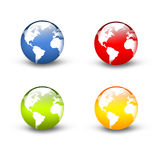 3D Earth set Stock Photography