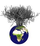 3d earth and tree Royalty Free Stock Images