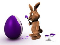 3d easter bunny Royalty Free Stock Image