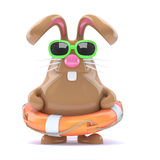 3d Easter bunny lifesaver Stock Photography