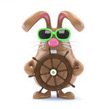3d Easter bunny sailor Stock Photography