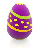 3D easter egg Royalty Free Stock Photography