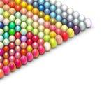 3d easter egg in bright color on white. 3d render easter egg in multiple bright color on white Stock Images