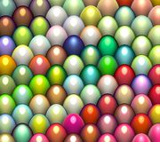 3d easter egg in bright colors. 3d render easter egg in multiple bright color Royalty Free Stock Photography