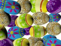 3D easter eggs. Royalty Free Stock Photography