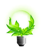3D Eco Concept - Environmental Light Bulb Stock Photography