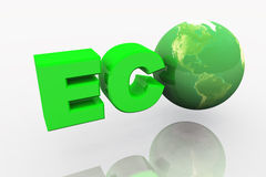 3d eco earth Royalty Free Stock Photography