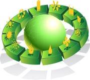 3D Eco freundliche grüne Kugel Lizenzfreies Stockfoto