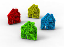 3D eco house Royalty Free Stock Images
