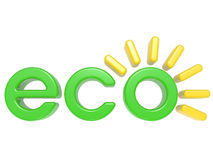 3D Eco  label Stock Image