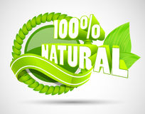 3d eco label Royalty Free Stock Photo