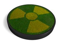 3D ecological radioactivity symbol Royalty Free Stock Photos