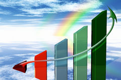 3d economy graph Stock Image