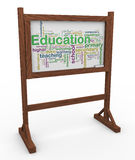 3d education wordcloud Stock Images