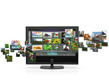 3d een illustratie: TV Stock Foto's
