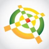 3d Eenvoudig croshairsymbool Royalty-vrije Stock Afbeeldingen