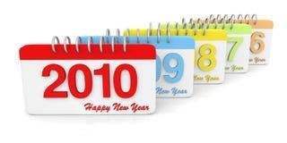 3D eenvoudige 2006 tot de Kalender van 2010 Stock Foto's