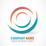 3d effect Business logo. 3d effect colorful Business logo background Royalty Free Stock Photography