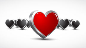 3d effect hearts Stock Photo
