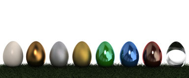 3D eggs in ranking Stock Images