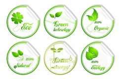 3d ekologii zieleni ikona royalty ilustracja