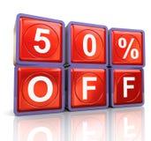3d el 50% reflexivo de Imagen de archivo libre de regalías