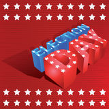 3d election day Stock Image