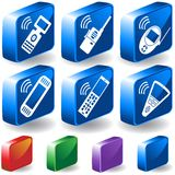 3D Electronic Buttons Stock Images