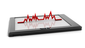 3d electronic cardiogram on a tablet pc Stock Images