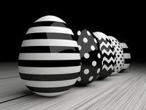 Free 3d Elegant, Black And White Easter Eggs Stock Image - 66656401