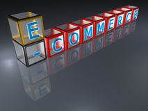 3D elektronische handel - Royalty-vrije Stock Foto's