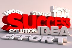 3D Elements Of Success Royalty Free Stock Photo
