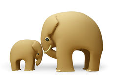 3D elephant happy fathers day. On white background Royalty Free Stock Photos