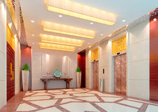 3d elevator lobby rendering Royalty Free Stock Photos