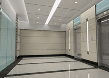 3d elevator lobby rendering Stock Images
