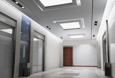 3d elevator lobby rendering Stock Photos