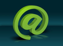 3d email. Green 3d figure of the Stock Photos