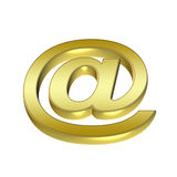 3D email golden symbol Stock Image
